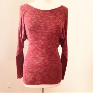 Lucky Brand Red Multi Dolman Sweater Style 7WD5066
